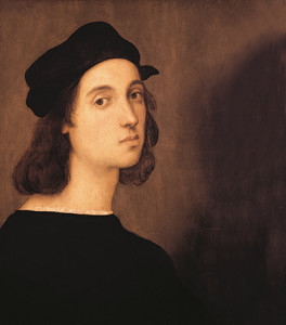 Self portrait, artist Raphael, 1506 – oil on panel