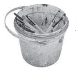 Bucket of Brushes