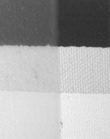 Golden Matte Medium over Golden Black Gesso, Raw Canvas, and Golden Gesso