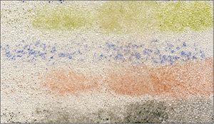Figure 14: Glass Bead Gel acted like no other media. Color remained in grooves after being wiped.