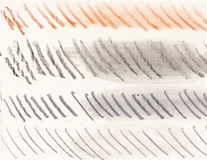 Figure 7: The harder, less porous surface of burnished Sandable Hard Gesso allowed for sharp, crisp lines.