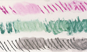 Figure 8: The absorbent, spongy surface of synthetic chalk ground allowed for great blending, especially with softer media such as charcoal and pastels.