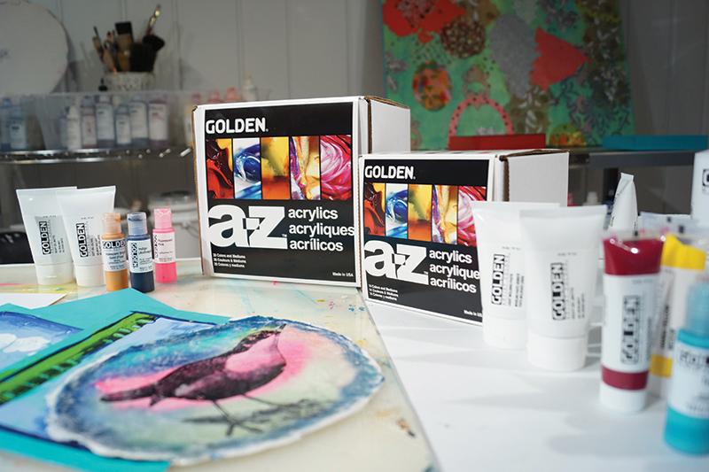 GOLDEN A-Z acrylics Set