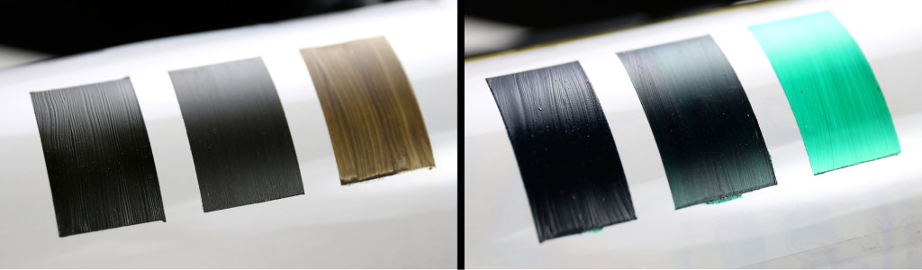 Connection of film thickness and sheen on non-absorbent film
