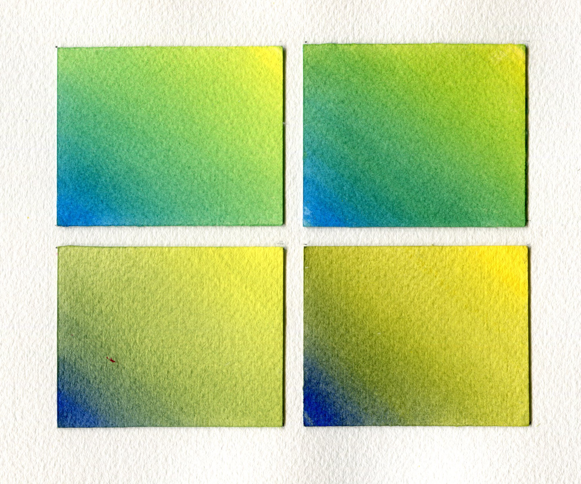 Mixing Greens With QoR Top Left Manganese Blue Cadmium Yellow Primrose