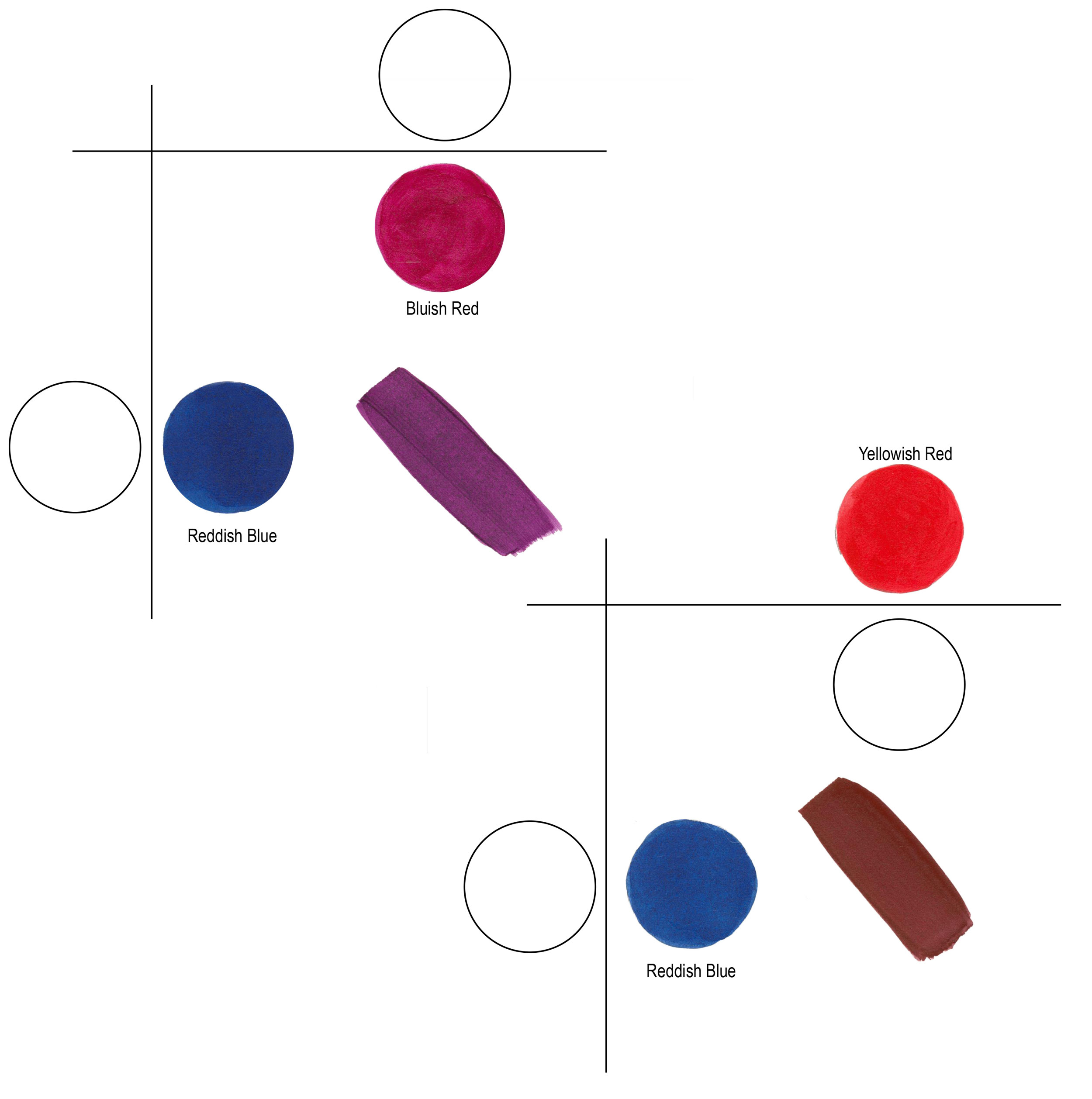Defining warm and cool colors its all relative just paint figure 6 the upper left mixture shows a clean violet using a reddish blue with geenschuldenfo Image collections