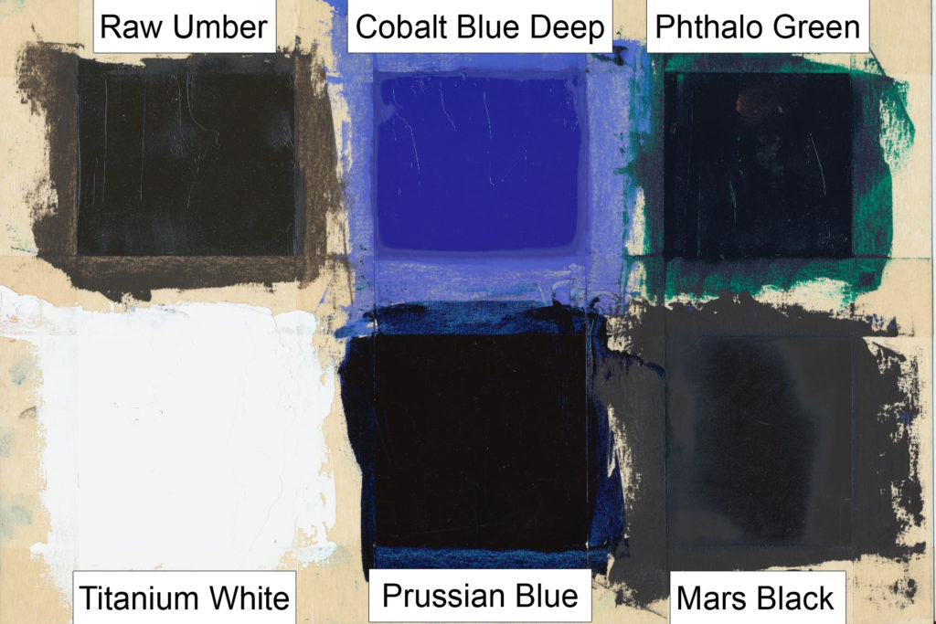 A range of other colors that were tested, with a focus on faster drying ones versus the more moderate drytime for Mars Black. Various other factors, however, might also factor into the differences seen.
