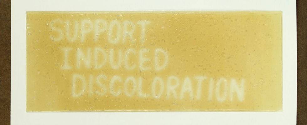 Support Induced Discoloration Oil Paint