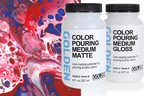 Color Pouring Medium Matte and Gloss